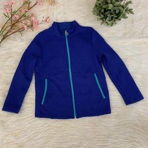 Spyder Girls Full Zip Blue Teal Sweater L (14/16)